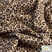 Tissu popeline motif léopard - Marron et beige - Oeko-Tex ® - Stenzo Textiles ® Stenzo Textiles ® - 6