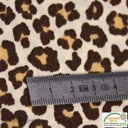 Tissu popeline motif léopard - Marron et beige - Oeko-Tex ® - Stenzo Textiles ® Stenzo Textiles ® - 7