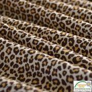 Tissu popeline motif léopard - Marron et beige - Oeko-Tex ® - Stenzo Textiles ® Stenzo Textiles ® - 5