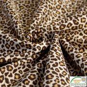 Tissu popeline motif léopard - Marron et beige - Oeko-Tex ® - Stenzo Textiles ® Stenzo Textiles ® - 3