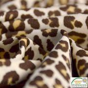 Tissu popeline motif léopard - Marron et beige - Oeko-Tex ® - Stenzo Textiles ® Stenzo Textiles ® - 4