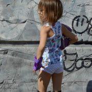 Tissu jersey coton Dancing queen motif rollers - Bio - Lillestoff ®