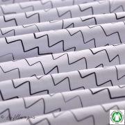 Tissu jersey coton Zick Zack motif zig zag - Blanc et noir - Bio - Lillestoff ® Lillestoff ® - 4