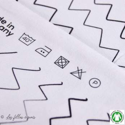 Tissu jersey coton Zick Zack motif zig zag - Blanc et noir - Bio - Lillestoff ® Lillestoff ® - 9