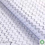Tissu jersey coton Zick Zack motif zig zag - Blanc et noir - Bio - Lillestoff ® Lillestoff ® - 1