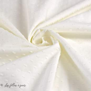 Tissu coton Dobby plumetis pois