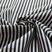 Tissu popeline de coton motif rayures