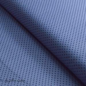 Tissu popeline de coton motif pois
