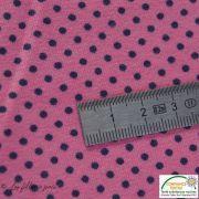Tissu jersey motif pois - rose et noir - Bio - Stenzo Textiles ® Stenzo Textiles ® - 8