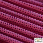 Tissu jersey motif pois - rose et noir - Bio - Stenzo Textiles ® Stenzo Textiles ® - 5