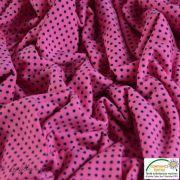 Tissu jersey motif pois - rose et noir - Bio - Stenzo Textiles ® Stenzo Textiles ® - 6