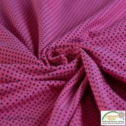 Tissu jersey motif pois - rose et noir - Bio - Stenzo Textiles ® Stenzo Textiles ® - 4