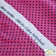 Tissu jersey motif pois - rose et noir - Bio - Stenzo Textiles ® Stenzo Textiles ® - 7