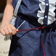 Tissu jean lurex