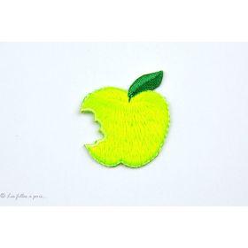 Écusson pomme croquée - Jaune - Thermocollant