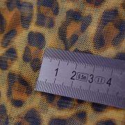 Tulle souple motif léopard tons marrons