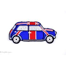 Écusson Austin Mini Cooper - Bleu et rouge - Thermocollant