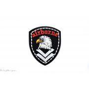 Écusson aigle airborne - Noir et blanc -  Thermocollant