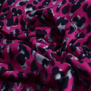 Tissu jersey motif coeur esprit léopard