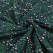 Tissu french terry coton FLOWER GARDEN  - Vert forêt -  Oeko-Tex ® - See You At Six ®