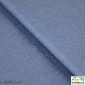 Tissu Tencel chambrai - Bleu
