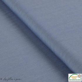 Tissu Tencel chanbrai - Bleu