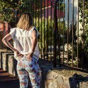 Tissu jersey coton motif rayures et roses - Blanc, noir et tons orangés - Bio - Lillestoff ® Lillestoff ® - 8