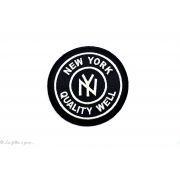 Écusson New york rond - Noir et blanc - Thermocollant - 1