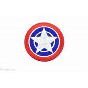 Écusson Capt'ain América - Bleu et rouge - Thermocollant
