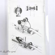 Pied de biche machine à coudre pose élastique PFAFF compatible IDT
