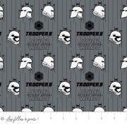 Tissu coton STAR WARS ™ Storm Troopers - Gris, blanc et noir