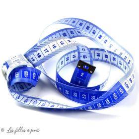 Mètre ruban double face inversées -1m50 - Bleu