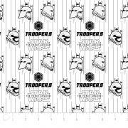 Tissu coton STARWARS ™ Storm Troopers - Blanc et noir Camelot Fabrics ® - 1