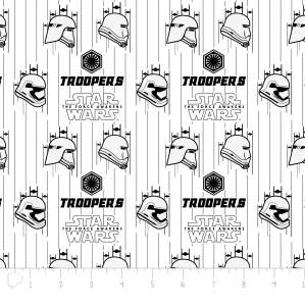 Tissu coton STAR WARS ™ Storm Troopers - Blanc et noir