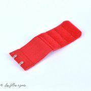 Rallonge soutien-gorge élastique 2 crochets - 32mm / 95mm - 6
