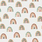 """Tissu jersey coton motif arc-en-ciel """"Over the rainbow"""" - Multicolore - Oeko-Tex ®"""