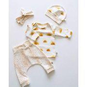 "Tissu jersey coton motif tâches ""Ochre Leopard"" - Tons orange - Oeko-Tex ® Family Fabrics ® - 12"
