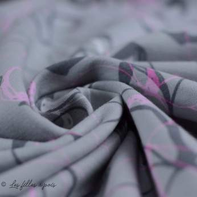 Tissu french terry coton motif fleur - Oeko-Tex ® Autres marques - 6