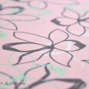 Tissu french terry coton motif fleur - Oeko-Tex ® Autres marques - 11