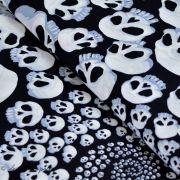 "Tissu coton motif tête de mort ""Skullfinity"" - Noir et blanc - Henry Alexander ®"