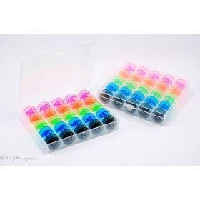 Boite de 25 canettes machine à coudre standard colorées - 1
