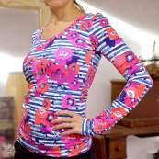 "Tissu jersey motif coquelicots ""Skopelos"" - Blanc, bleu et rouge - Oekotex ® - AGF ® Art Gallery Fabrics ® - Tissus - 8"