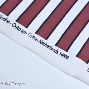 Tissu french terry coton motif rayures - Rouge et blanc -Oeko-Tex ® - Stenzo Textiles ®