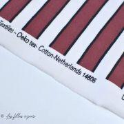 "Tissu french terry coton motif rayures ""All Over"" - Rouge et blanc -Oeko-Tex ® - Stenzo Textiles ® Stenzo Textiles ® - 6"