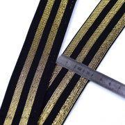 Elastique plat à rayures lurex - 40mm