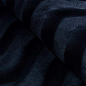 Tissu velboa motif pelage panthère - Noir