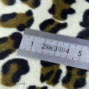 Tissu velboa effet léopard - Marron et beige Autres marques - 7