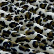 Tissu velboa effet léopard - Marron et beige Autres marques - 5