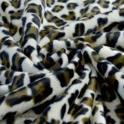 Tissu velboa effet léopard - Marron et beige Autres marques - 4