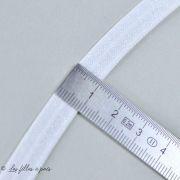 Biais élastique pré-plié - Blanc - 10mm